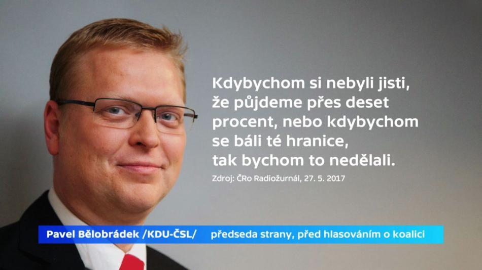 Pavel Bělobrádek před hlasováním o koalici se STAN