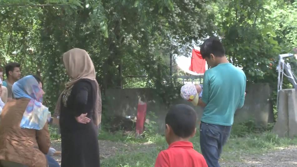 Uprchlíci v srbském centru