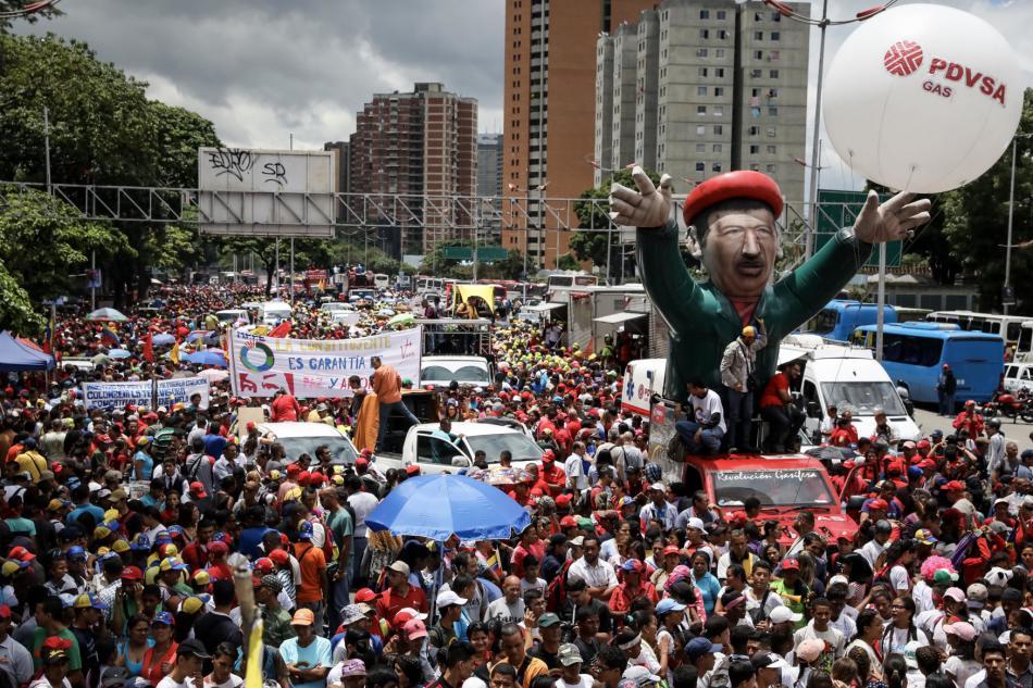 Příznivci Madurovy vlády