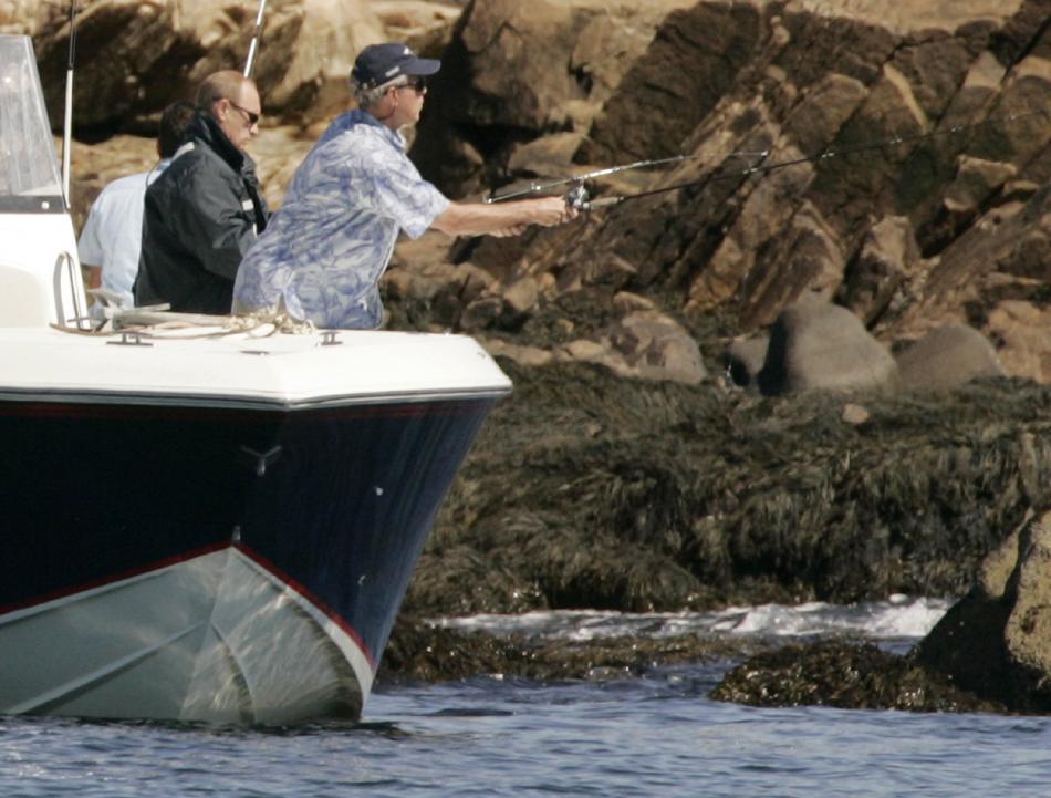 Bush a Putin společně na rybách