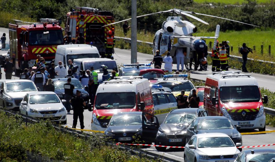 Policie dopadla pachatele útoku přímo na dálnici