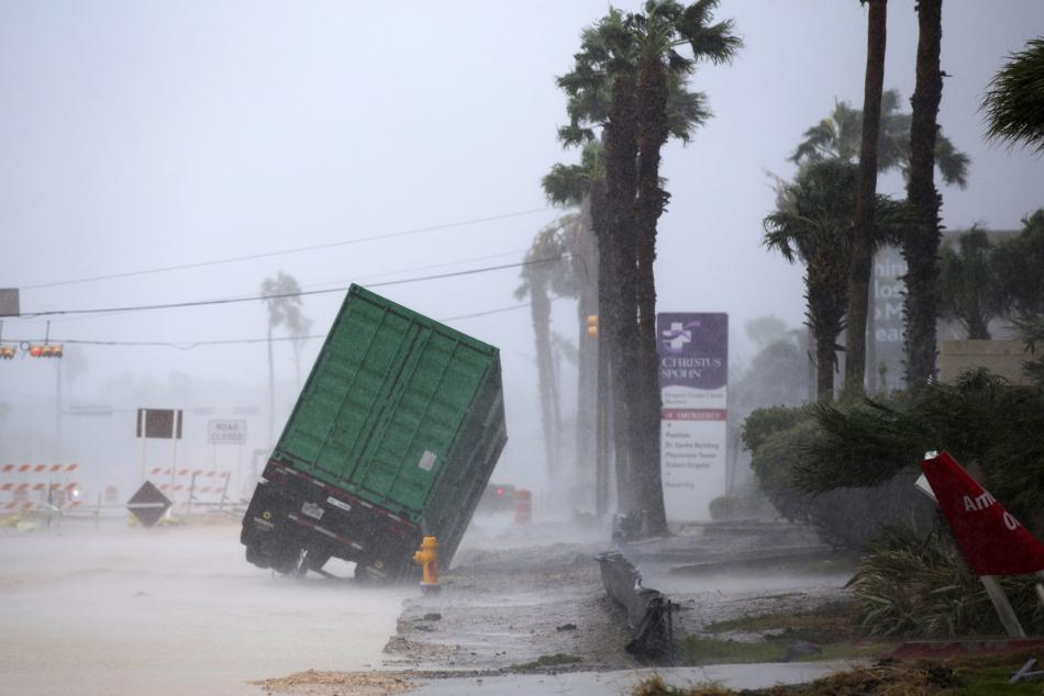 Řádění hurikánu Harvey v Corpus Christie