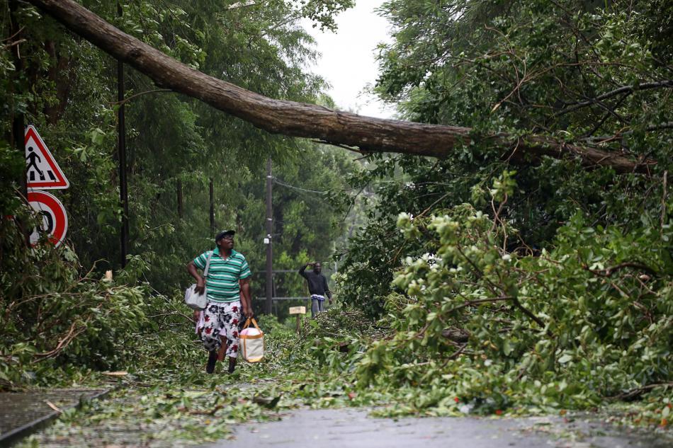 Guadeloupe po zásahu hurikánu Maria