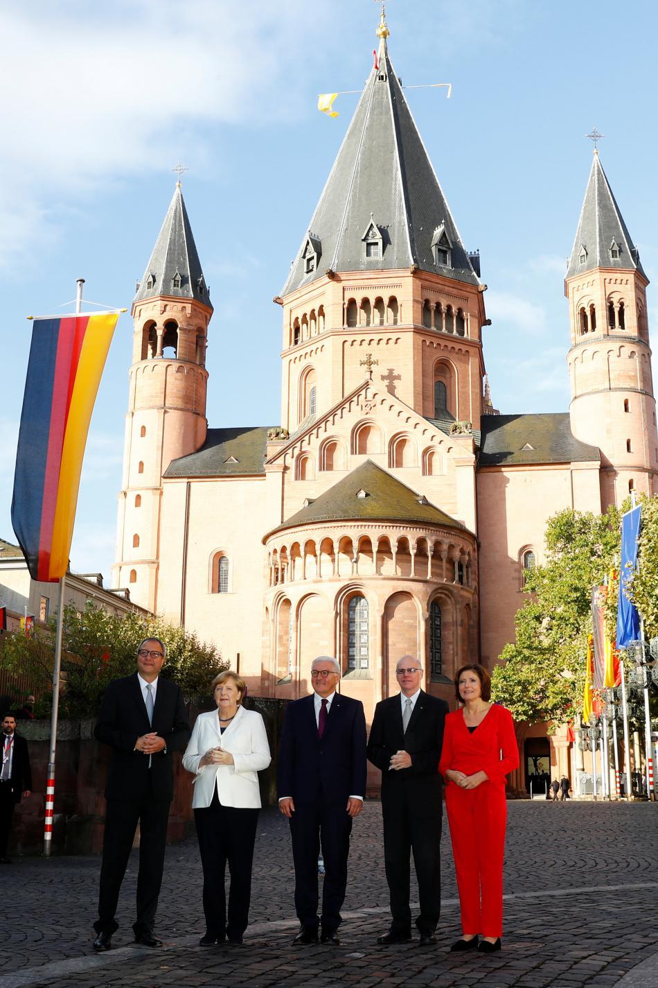 Oslavy sjednocení Německa v Mohuči