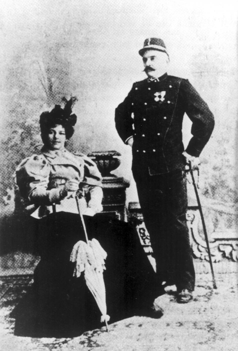 Gretha se svým manželem Rudolfem MacLeodem v roce 1900
