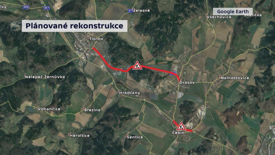 Plánované rekonstrukce silnic