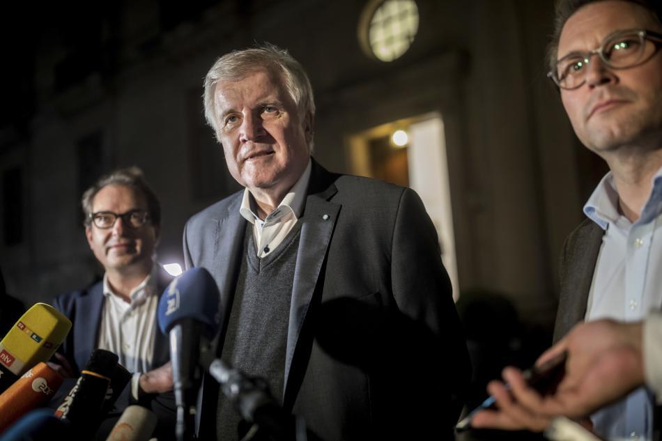 Šéf bavorské CSU Horst Seehofer