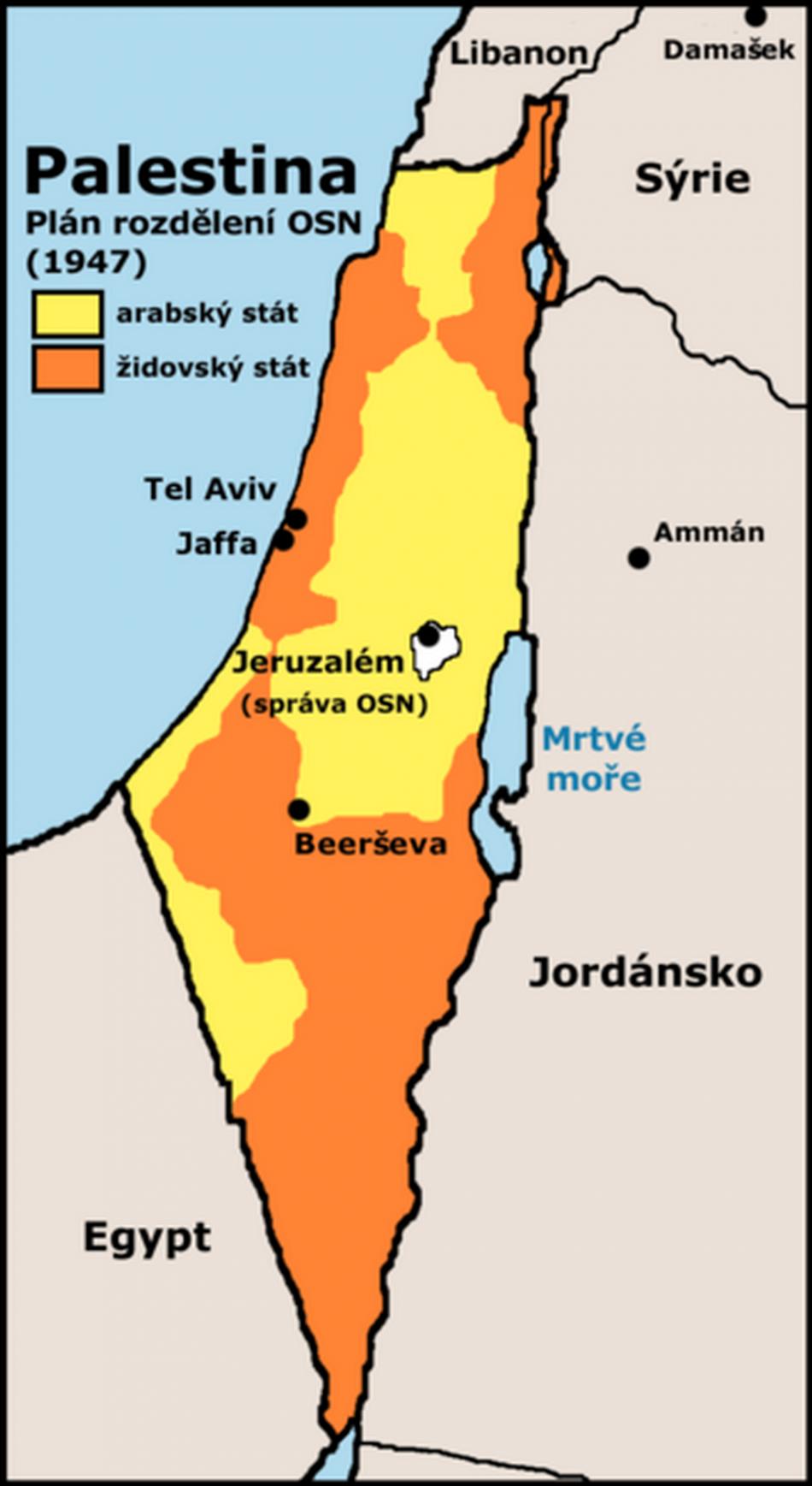 Plán OSN na rozdělení Palestiny z roku 1947
