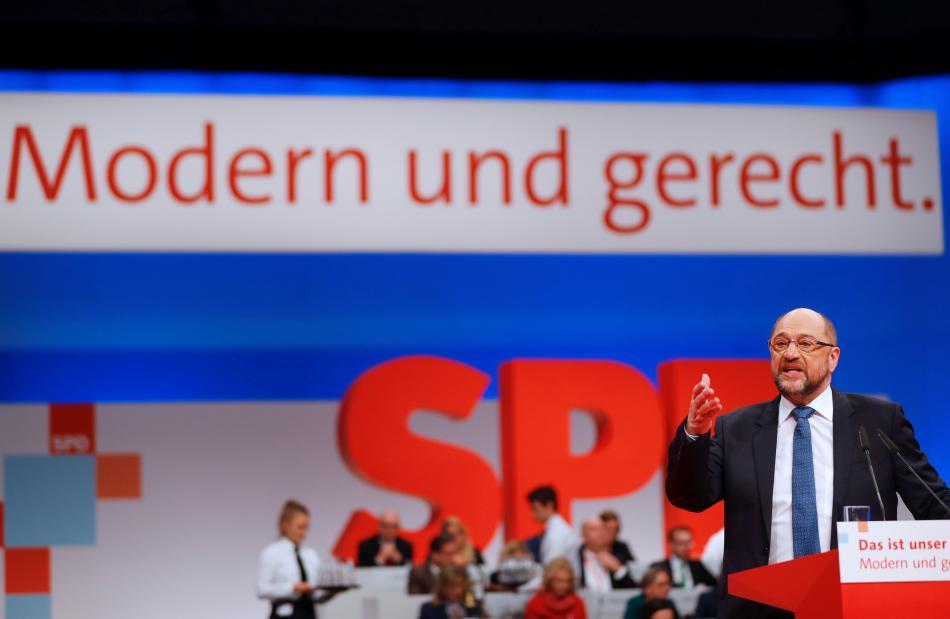 Martin Schulz na sjezdu SPD