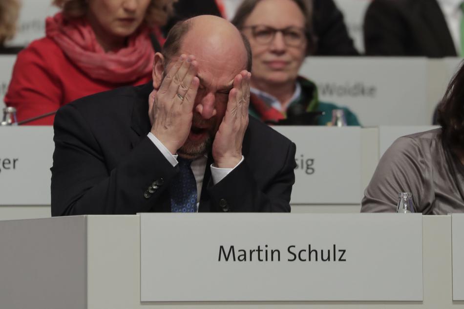 Martin Schulz na sjezdu své SPD