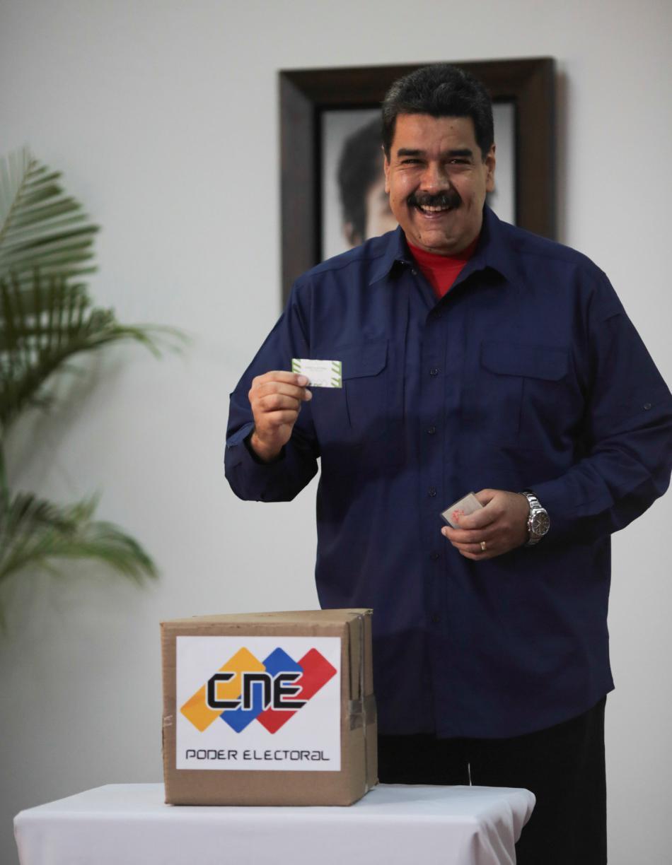 Nicolás Maduro u voleb