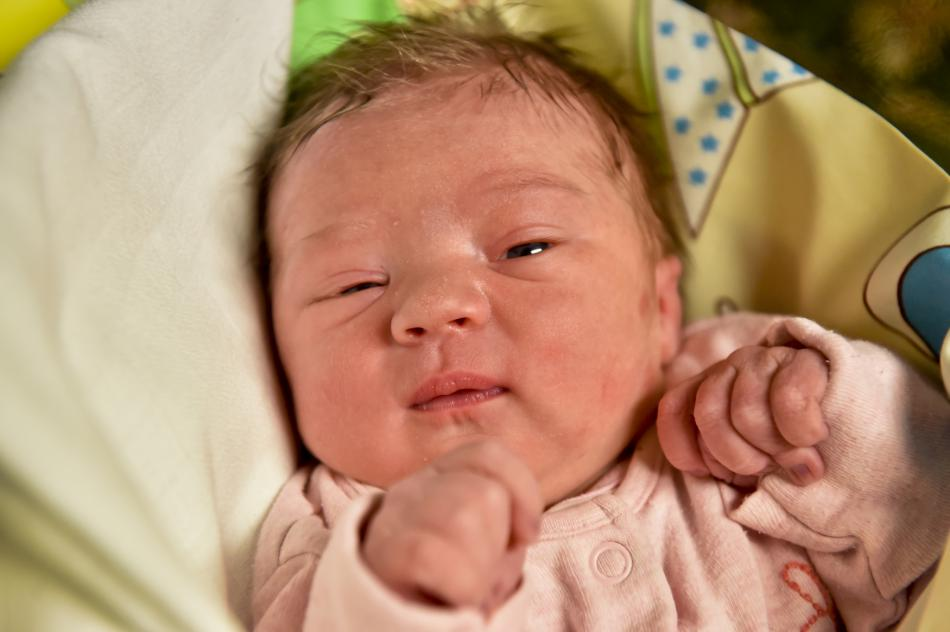 Prvním dítětem narozeným v roce 2018 v Praze je Eliška Kašparová
