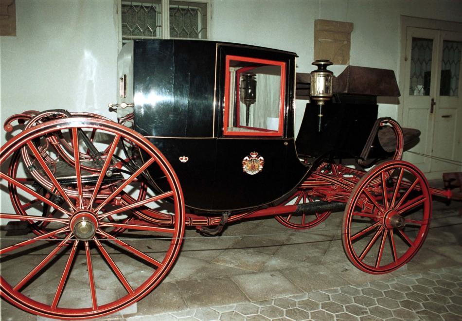 Kočár, součást mobiliáře zámku Opočnoa