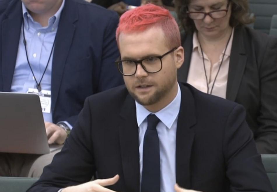 Christopher Wylie vypovídá před britskými poslanci
