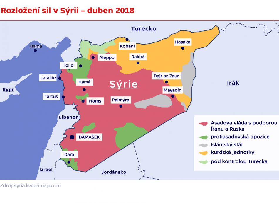Situace v Sýrii v dubnu 2018