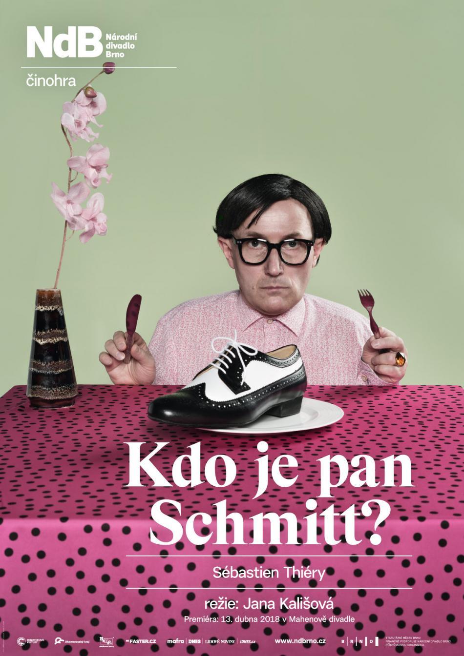 Plakát ke hře Kdo je pan Schmitt?