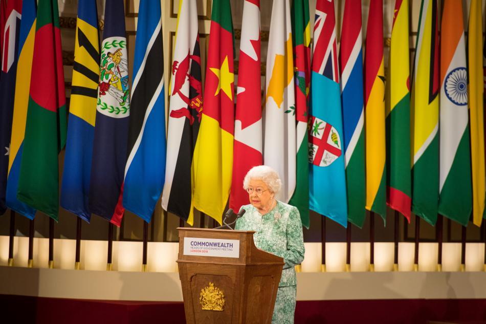 Královna Alžběta II. na summitu zemí Commonwealthu