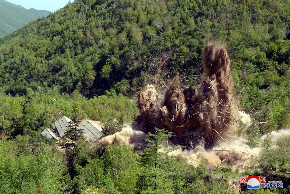 Odstřel severokorejské jaderné střelnice