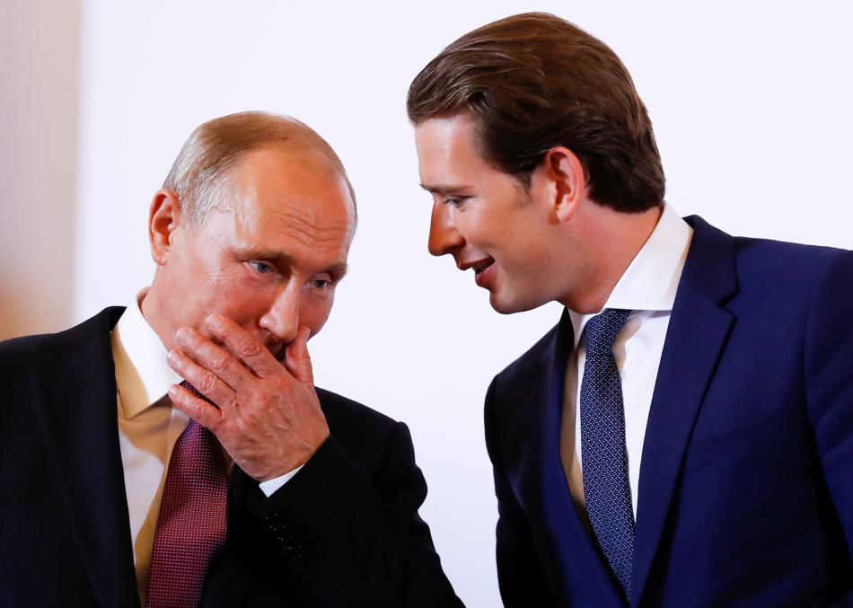 Vladimir Putin se Sebastianem Kurzem