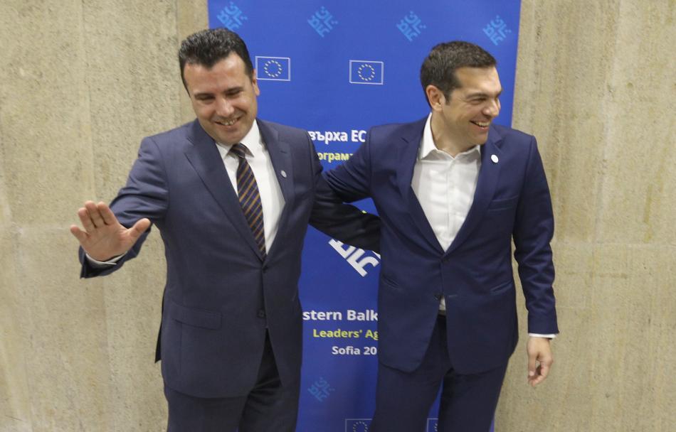 Zoran Zaev a Alexis Tsipras