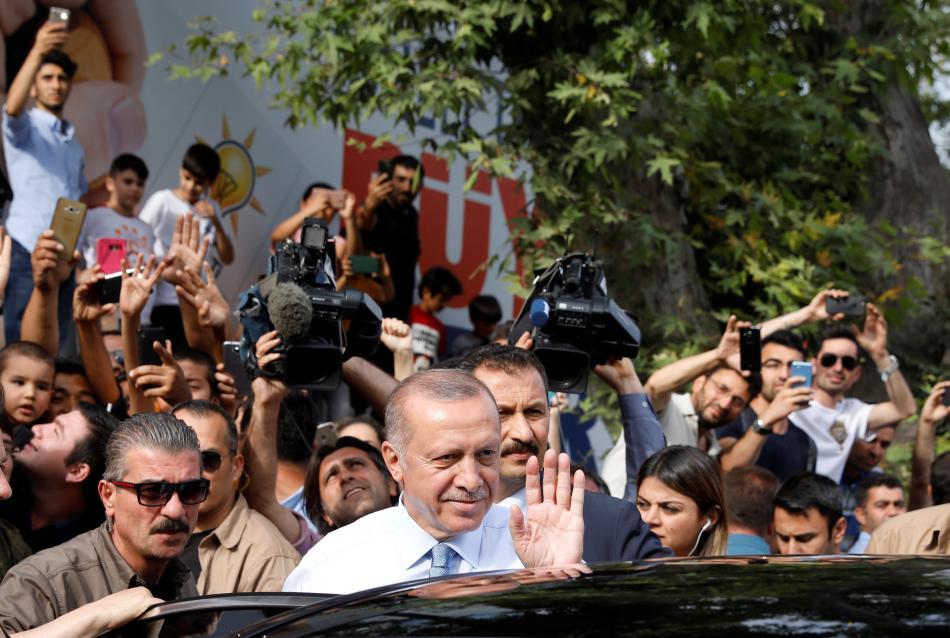 Recep Tayyip Erdogan obhajuje prezidentskou funkci