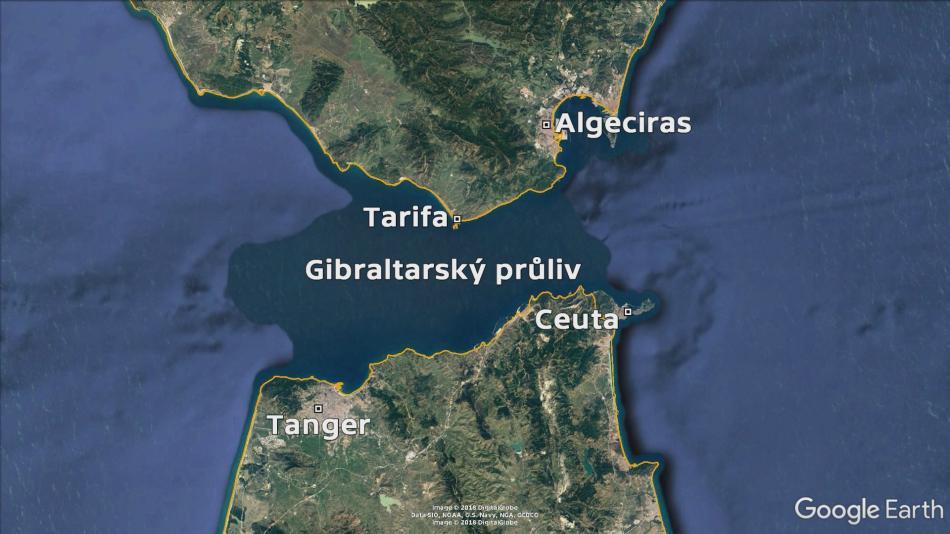 Okolí Gibraltarského průlivu