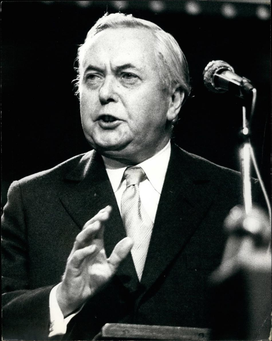 Harold Wilson na fotografii z října 1973