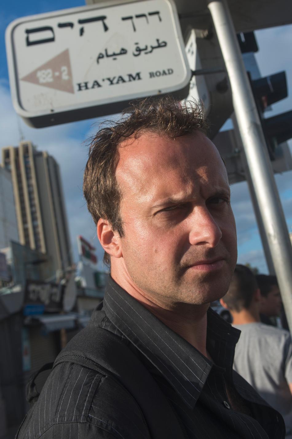 David Borek v Izraeli jako turista