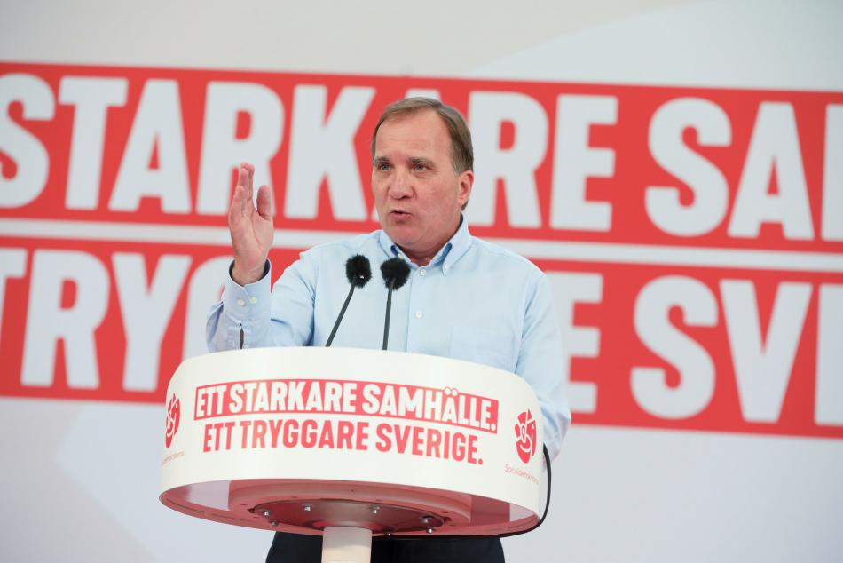 Dosavadní premiér a šéf sociálních demokratů Stefan Lofven
