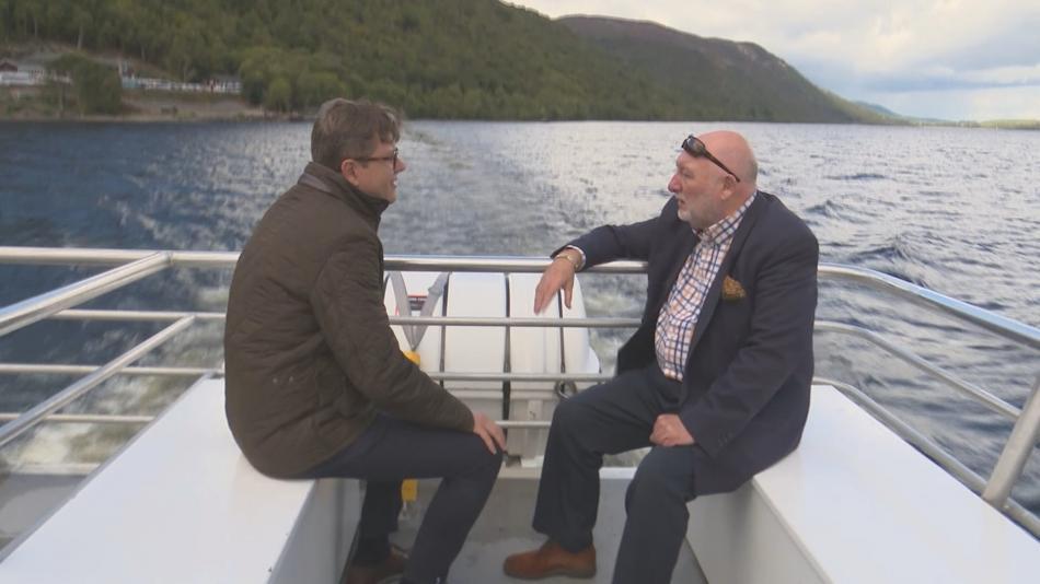 Bohumil Vostal během rozhovoru s Williem Cameronem