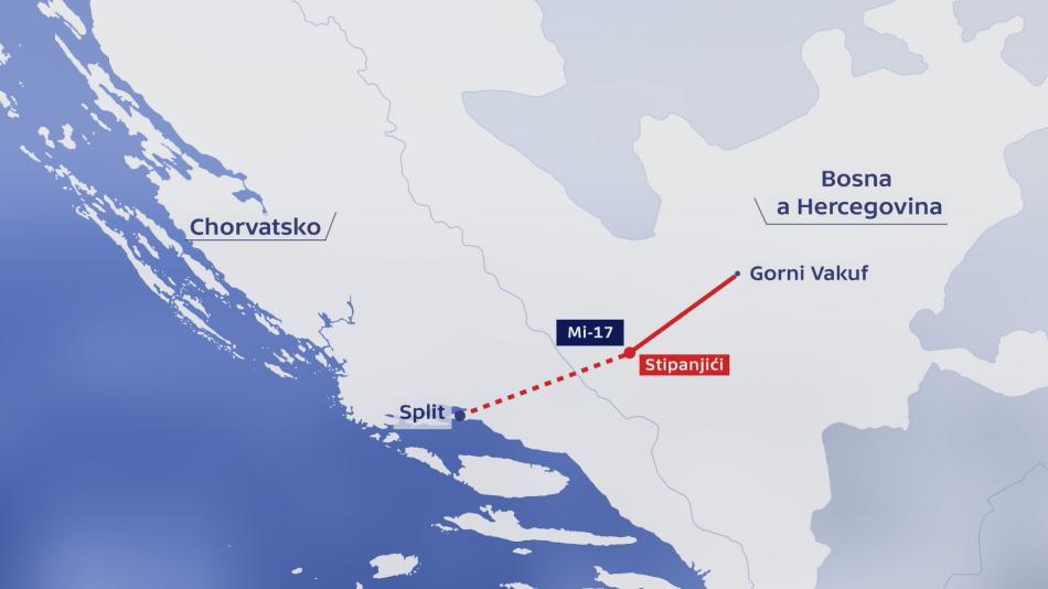 Pád českého vrtulníku v Bosně a Hercegovině