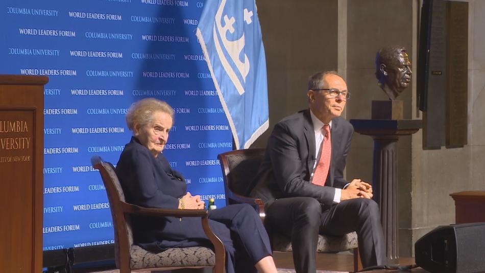Madeleine Allbrightová a Jan Švejnar