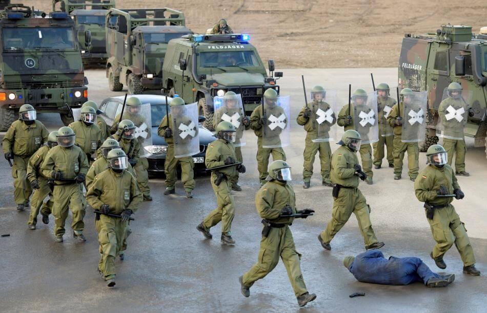 Cvičení německé armády