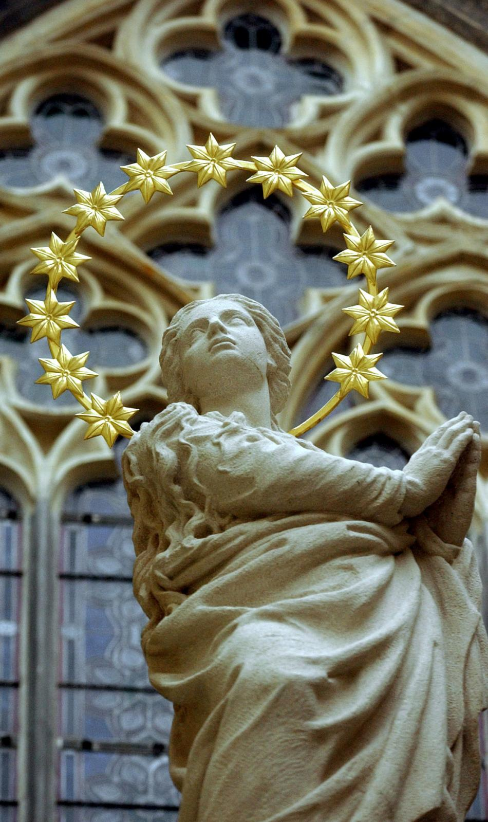 Kopie sochy Panny Marie z Mariánského sloupu