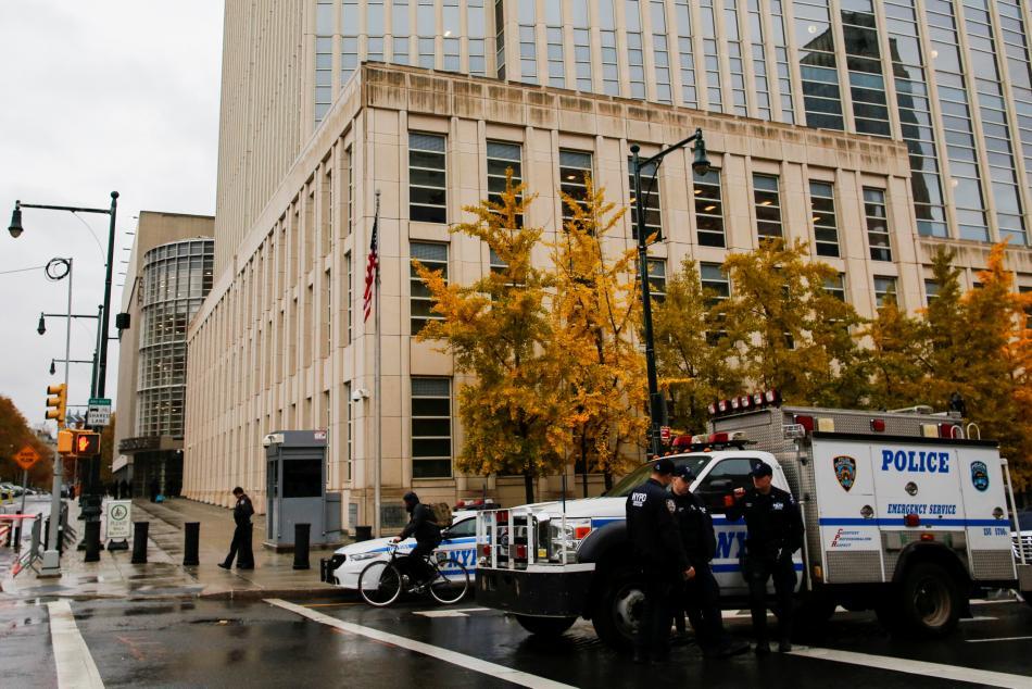Zvýšená bezpečnostní opatření před soudem v New Yorku