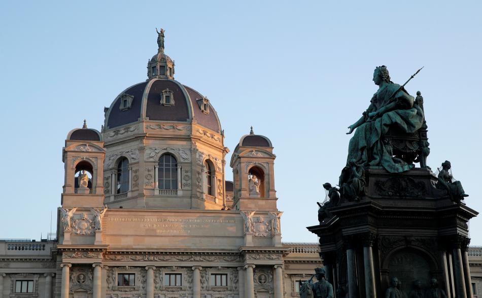 Památník Marie Terezie před Uměleckohistorickým muzeem ve Vídni
