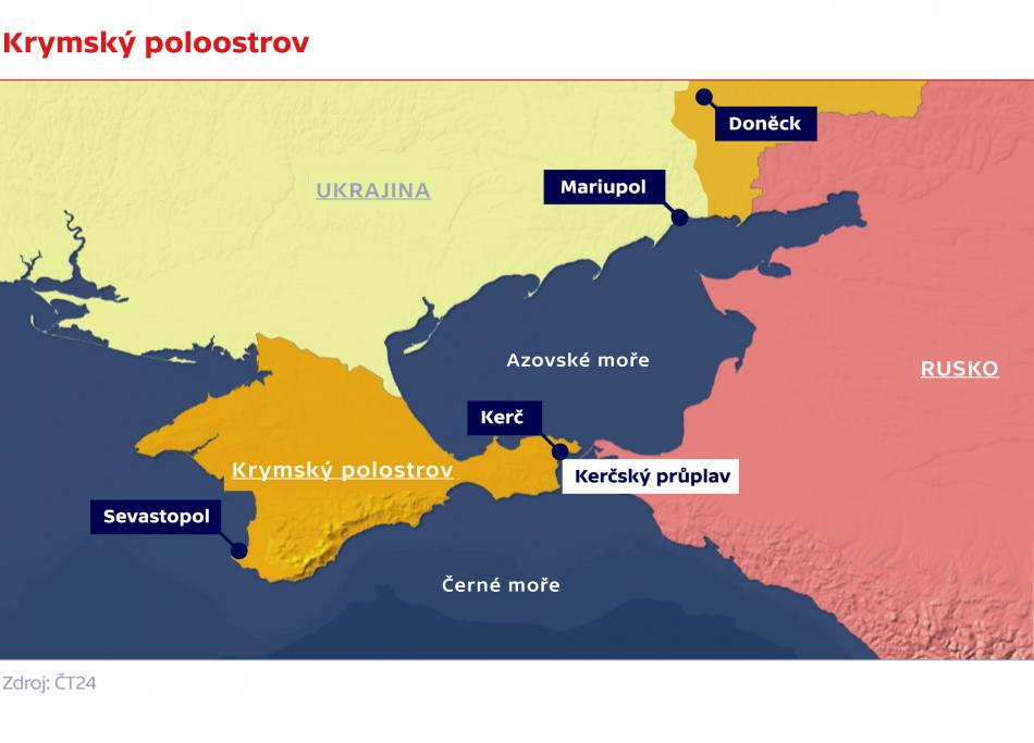 Krymský poloostrov a Kerčský průliv