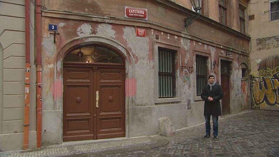 Dům v Praze 1, kde se organizovaly kindertransporty