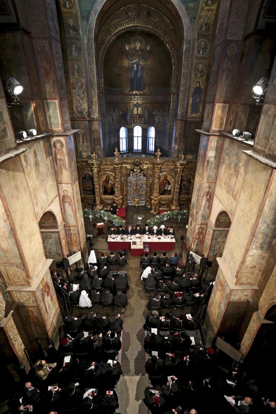 Pravoslavný synod v kyjevské katedrále svaté Sofie