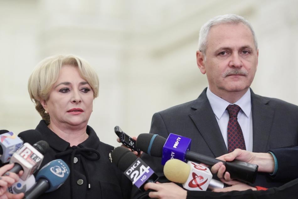 Premiérka Viorica Dancilaová a předseda PSD Liviu Dragnea
