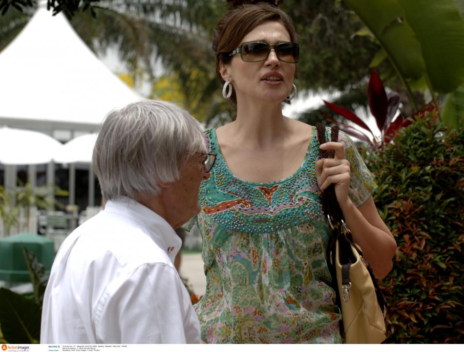 Bernie Ecclestone se svou bývalou ženou Slavicou