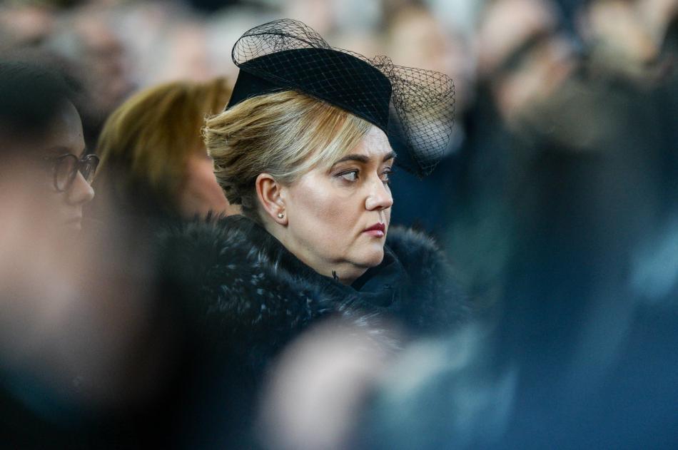 Magdalena Adamowiczová na manželově pohřbu