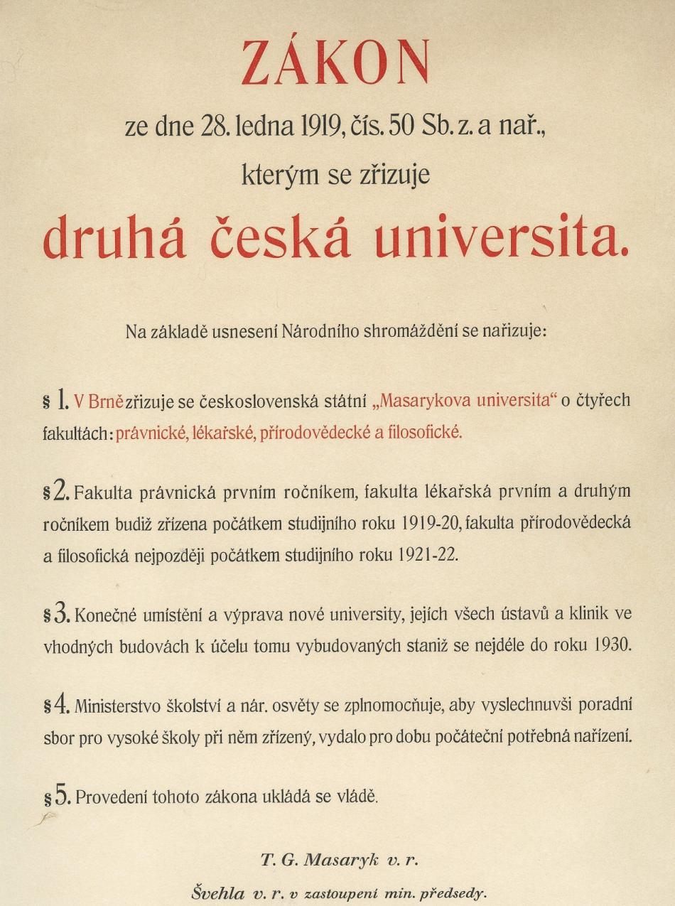 Zákon o zřízení univerzity