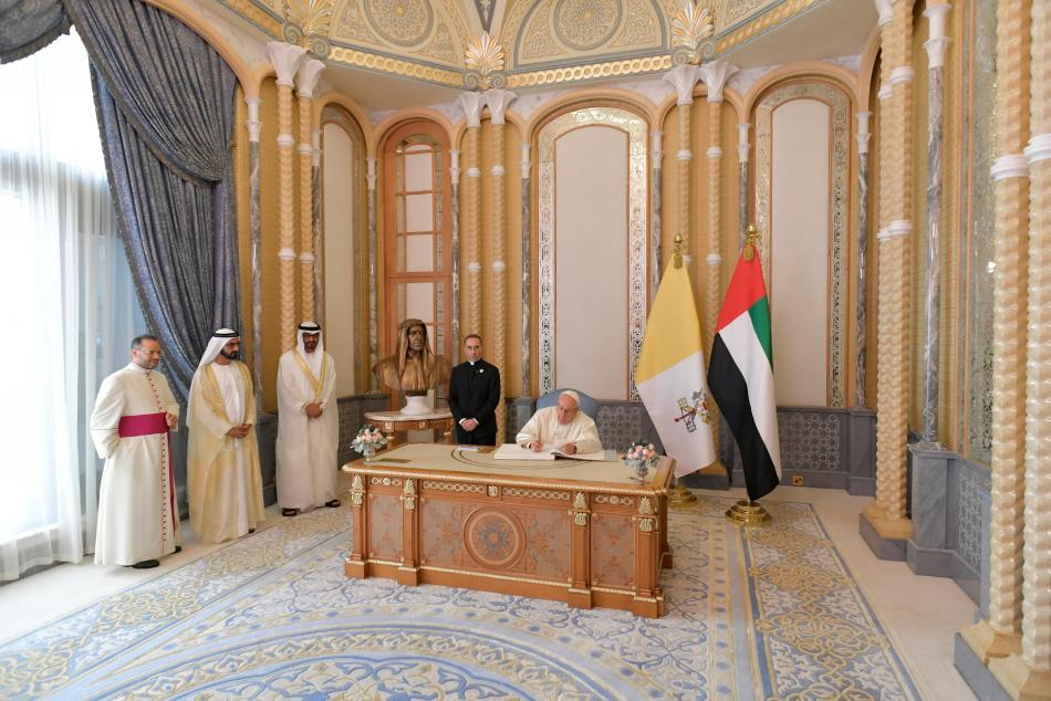 Papež František ve Spojených arabských emirátech