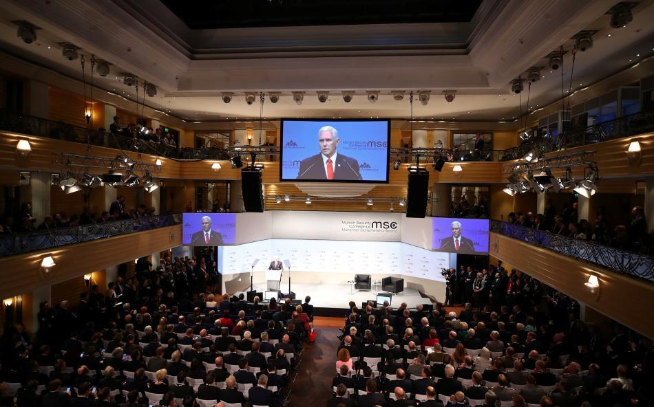 Mike Pence na mnichovské bezpečnostní konferenci