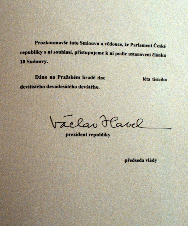 Listina o přístupu Česka k NATO