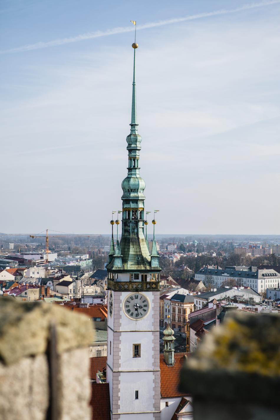 Věž olomoucké radnice před rekonstrukcí