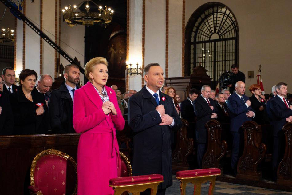 Polský prezident Andrzej Duda s manželkou