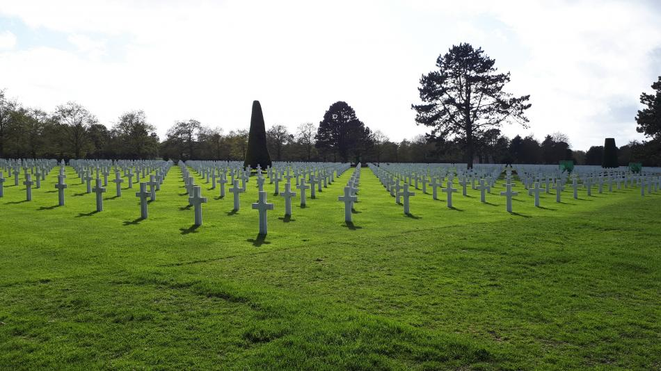 Hřbitov amerických vojáků v Colleville-sur-mer