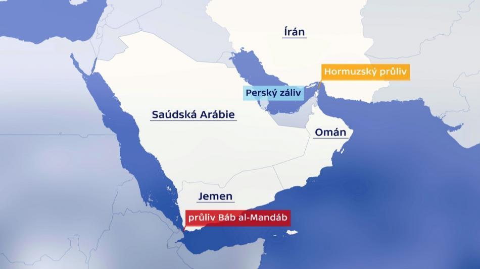 Strategické průlivy na Blízkém východě